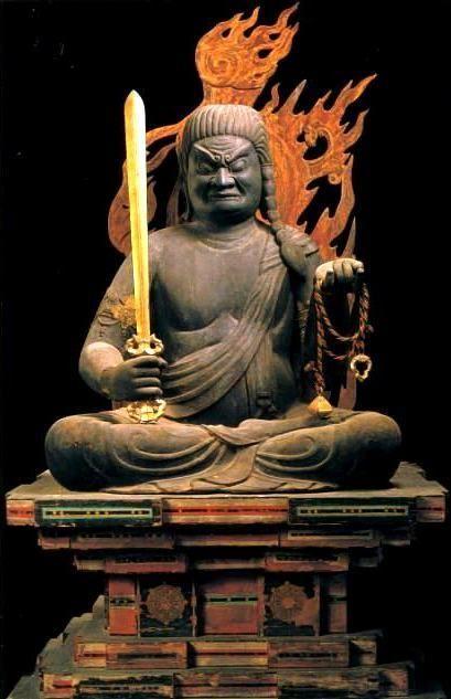 不動明王(善水寺)座像 梵名アチャラ・ナータ अचलनाथ 五大明王の中心となる明王
