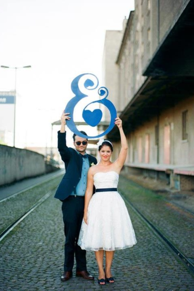 top wedding invitations016%0A Ampersand sign  Switzerland BBQ Wedding from Miguel Varona love this dress