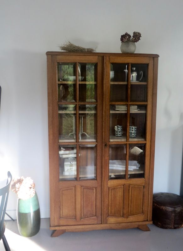 Armoire Vaisselier Ancienne Meuble Vintage Mobilier De Salon Meuble