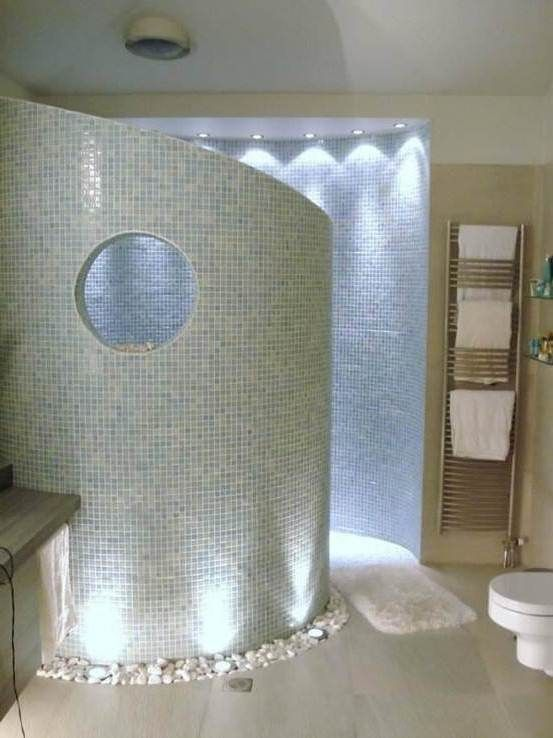 cool walk in showers. Nice Bathroom Design With Curved Walk In Shower Idea And Rock Around 11 Best Images On Pinterest  Bathrooms