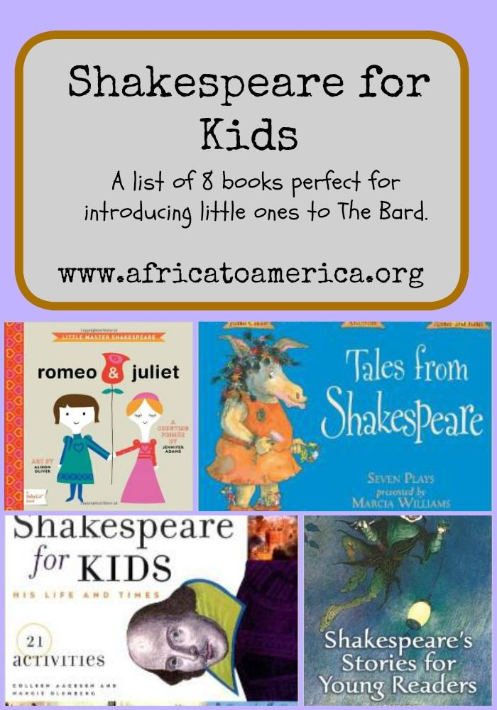 A list of children's books perfect for introducing little ones to Shakespeare!
