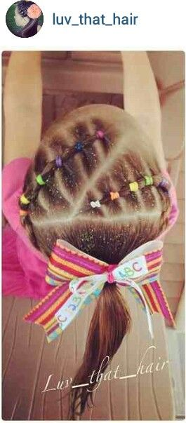 Cute elastic style by @luv_that_hair