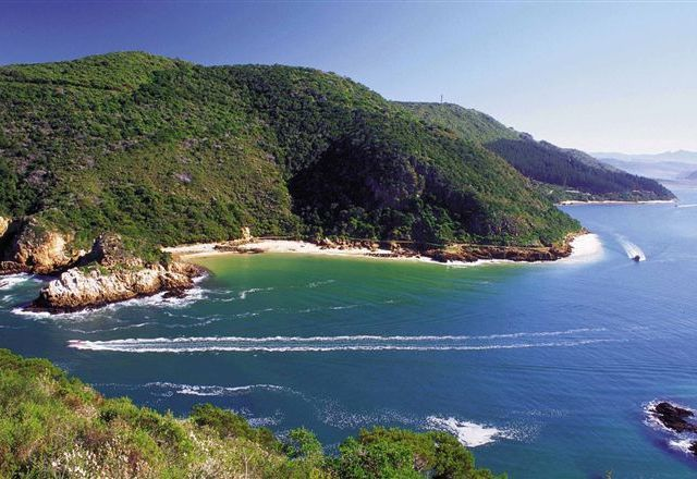 The famous Knysna Heads on a beautiful summer day.