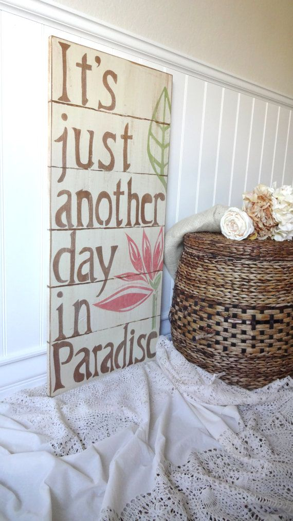 High beadboard... Meet Me Bye The Sea Paradise Beach Sign by MeetMeByeTheSea on Etsy, $90.00