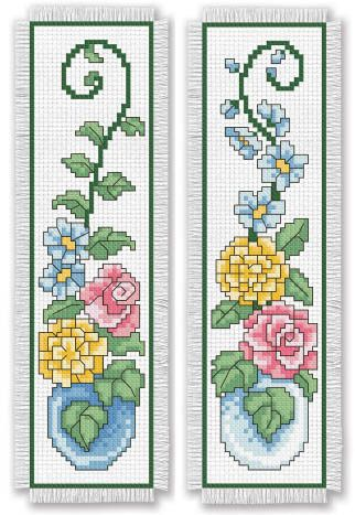Leisure Arts Bookmark Medley - Cross Stitch Pattern. Bookmark Medley presents 14 charming cross stitch designs to mark your spot in your favorite books! From ow