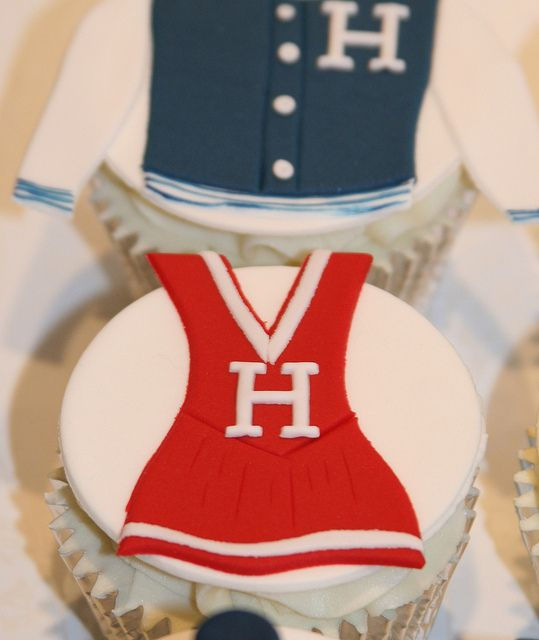 Cheerleader Cupcake by The Clever Little Cupcake Company, via Flickr