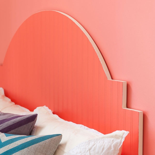 Painted wallpaper headboard instead of the beadboard - What to use instead of a headboard ...