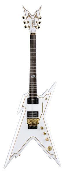 Dean Guitars - Razorback White w/Gold Pinstripe w/case