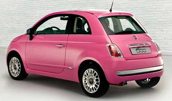 pink fiat 500 interior | Somente para a Inglaterra: Fiat 500 ganha edição especial para as ...