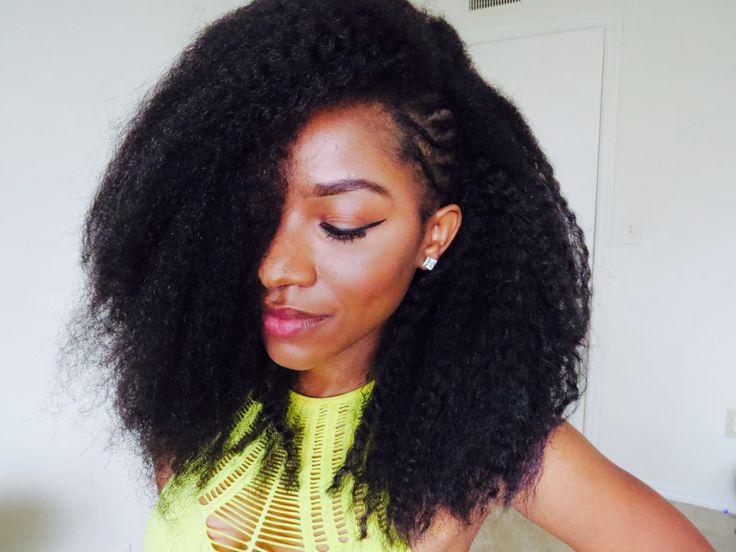 Crochet Braids Puff : Crochet braids w/ exposed side braids