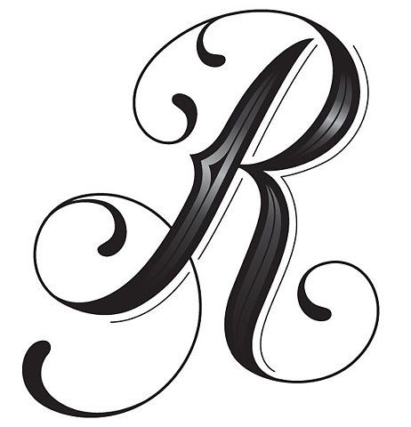 R Alphabet Letter tattoo, Letters and Tattoos and body art on Pinterest