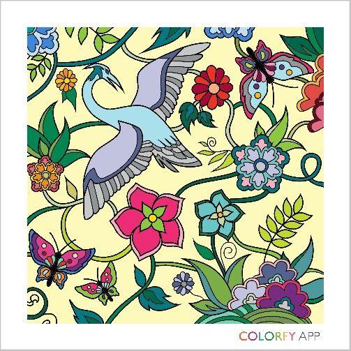 Stork and Butterflies