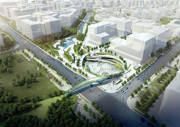 Galeria de Proposta vencedora para a Praça Central de Magok / Wooridongin Architects - 1