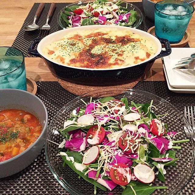 hi_rose80 on Instagram pinned by myThings Today's dinner .  ミネストローネとドリアでこんばんは☺︎ .  ドリアのホワイトソースは豆乳で。 .  リオ氏の夕飯もミネストローネでした お野菜ポイするからスープにしてやりました。 ちゃんと完食してくれた! 野菜嫌いってわけではなさそう。 ただポイしたかったんだね。 . .  #dinner #homemade #foodpic #foodie #foodporn #kaumo #kurashiru #kurashirufood #cookingram #delistagrammer #クッキングラム #デリスタグラマー#夕飯#夕食#晩ごはん#おうちごはん#新米ママ #男の子ママ #生後11ヶ月 #11months #5月生まれ #とりあえず野菜食#staub #ストウブ#ストウ部#柳宗理