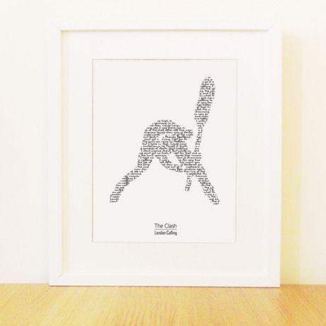 ザ・クラッシュ London Calling おしゃれなタイポグラフィーポスター by Williams Prints