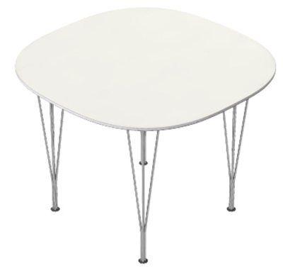 Supercirkel bord vit laminat/ aluminiumkant