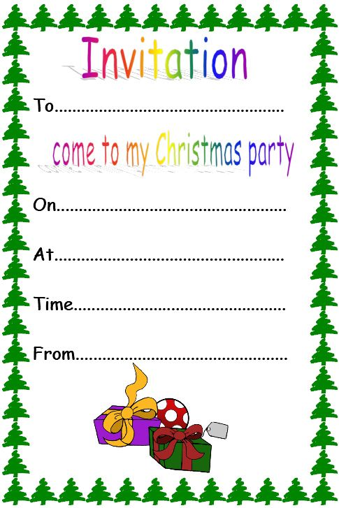 29 best christmas ideas for literacy images on pinterest invitation template for the writing area and christmas party roleplay stopboris Images
