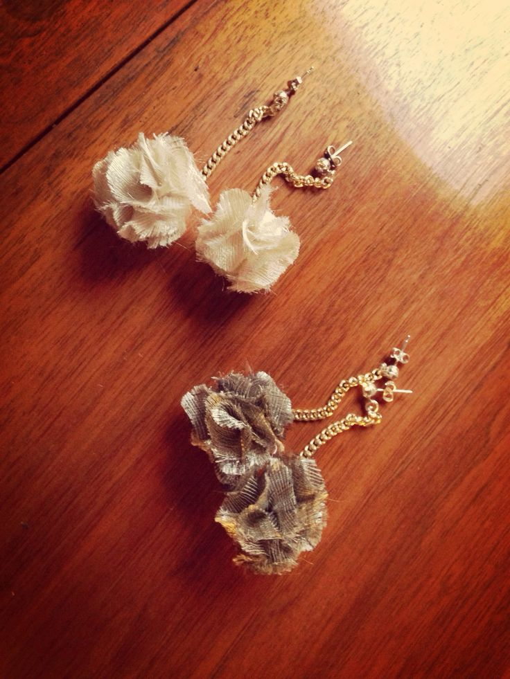 Handmade traffic earrings