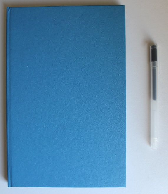 Day 4: Large Sky Blue Journal by BoundedPaper on Etsy