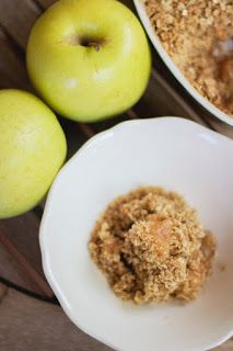 Crumble de manzana, un postre con muchas virtudes ;) #singluten #vegetariano #vegano