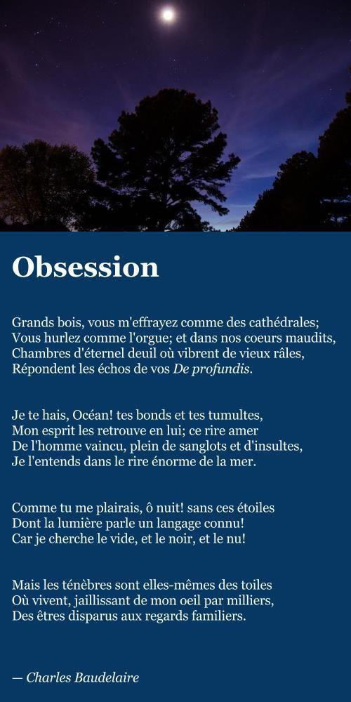 Baudelaire – Obsession | À la française …