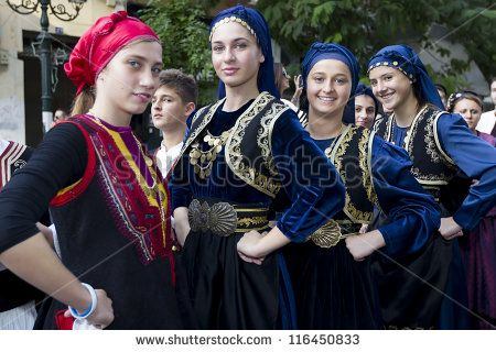 THESSALONIKI, GREECE - O Greek folklore dancers