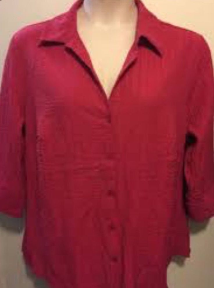 ALC WOMAN TOP - PLUS SIZE 1X #ALC #ButtonDownShirt