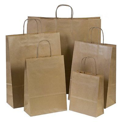 Party Bags 122791: Brown Paper Gift Carrier Bags With Twisted Handles *Choose Own Size And Quantity -> BUY IT NOW ONLY: $32.99 on eBay!