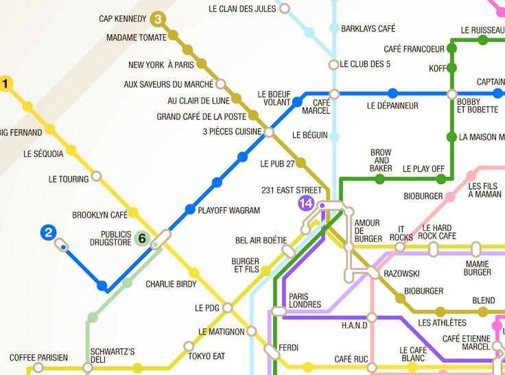 Fraisfrais's Paris metro burger map #Paris #eatingout #streetfood