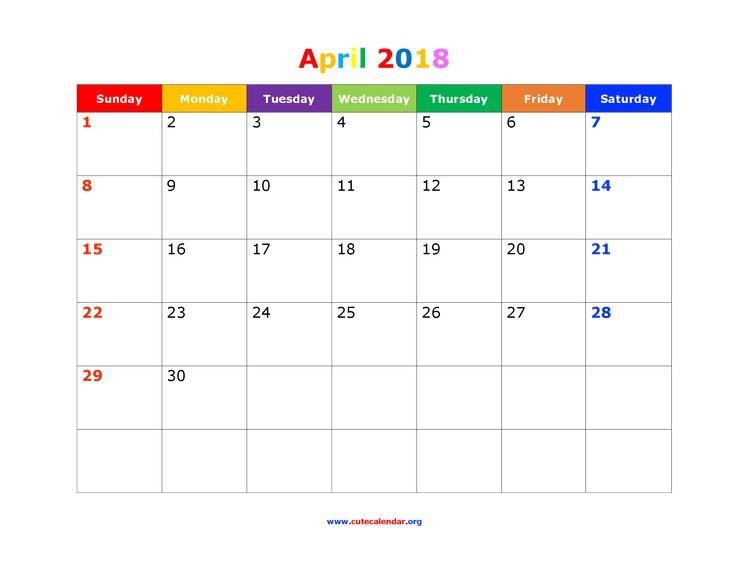 12 Best Cute Calendar 2018 Images On Pinterest Calendar 2018
