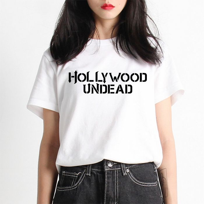 >> Click to Buy << Hollywood Undead Letter Summer Women Lettering Print T-shirt Swag Harajuku Female Tshirt White Mercerized Cotton Girl Tee Funny #Affiliate