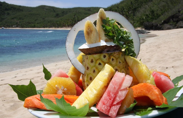 Yum! Fresh fruit in the islands