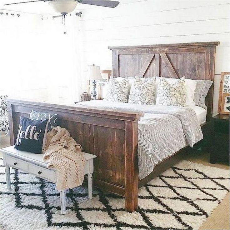 50 Modern Farmhouse Bedroom Decor Ideas Farmhouse Style Master Bedroom Rustic Farmhouse Bedroom Farmhouse Bedroom Decor