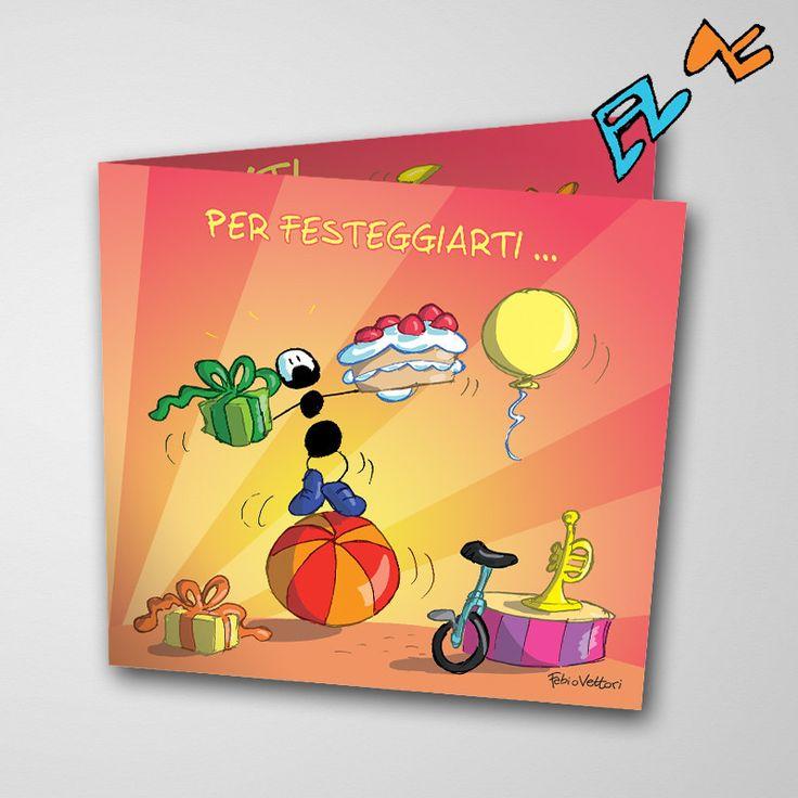 Biglietto musicale Auguri (FV07-04) | Le Formiche di Fabio Vettori #formiche #fabiovettori #biglietto #auguri #musica #music #fun #regalo #gift #torta #festa
