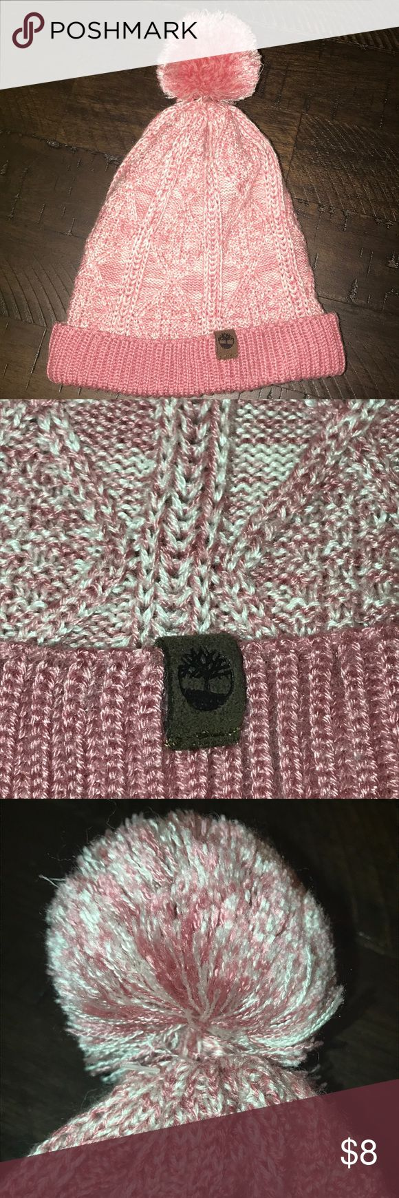 Timberland Cuffed Pom Beanie (Infant) – One Size ⭐️ LIKE NEW ⭐️ Timberland Cuffed Pom Beanie   Size: One Size Fits Most – Infant / Small Toddler Color(s): Pink & White Material(s): 85% Acrylic / 15% Wool  ⭐️ This Beanie Is In EXCELLENT Condition ⭐️  ⭐️ Offers Welcome  📩 Bundle Items For Private Offers 📦 Fast Shipping! Timberland Accessories Hats