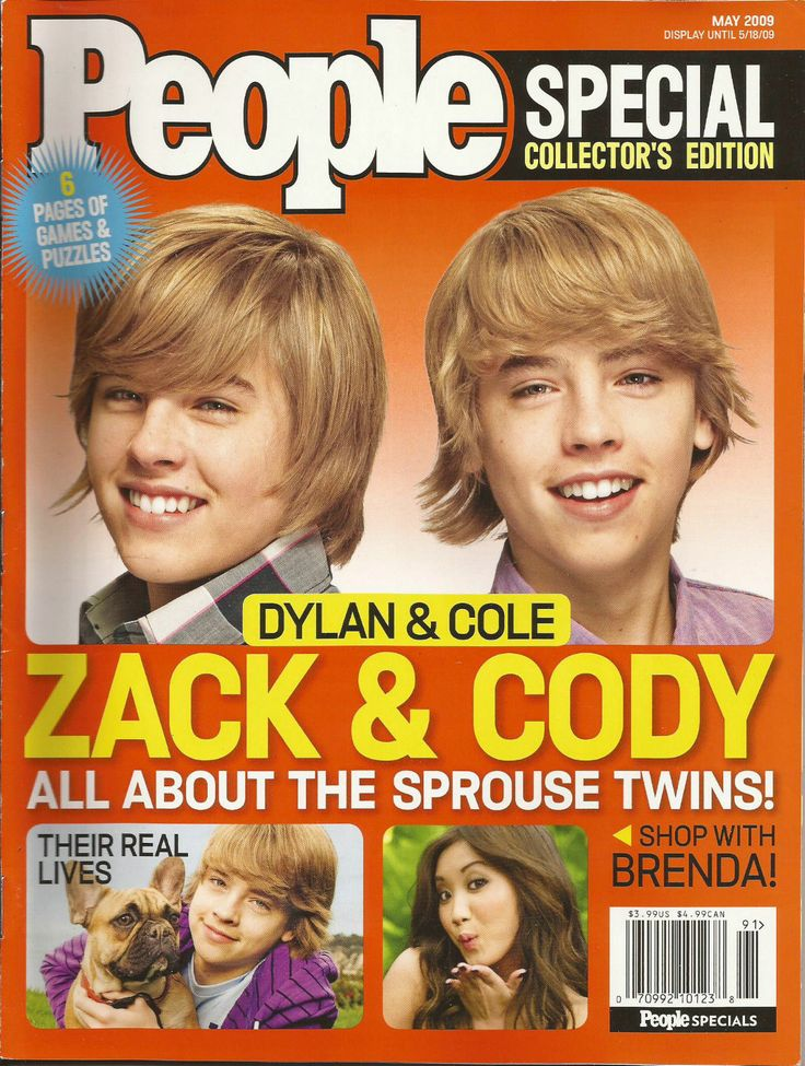 2009 People Special Edition Zack Cody Sprouse Twins Dylan Cole