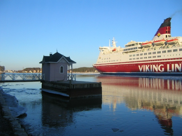 Ruissalo Viking line passing by