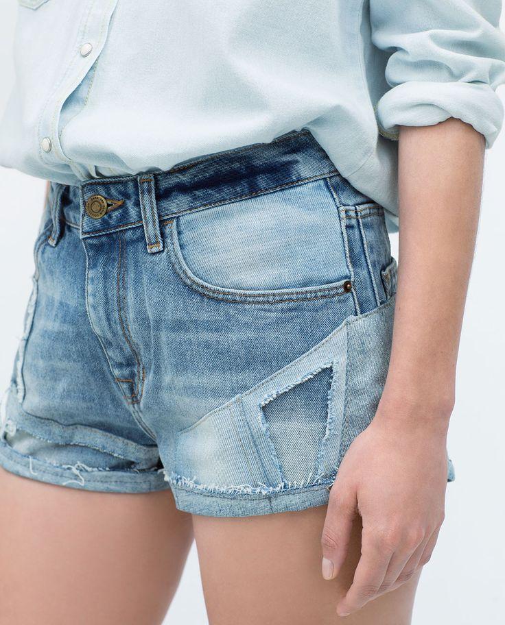 Image 5 of HIGH WAIST SHORTS from Zara
