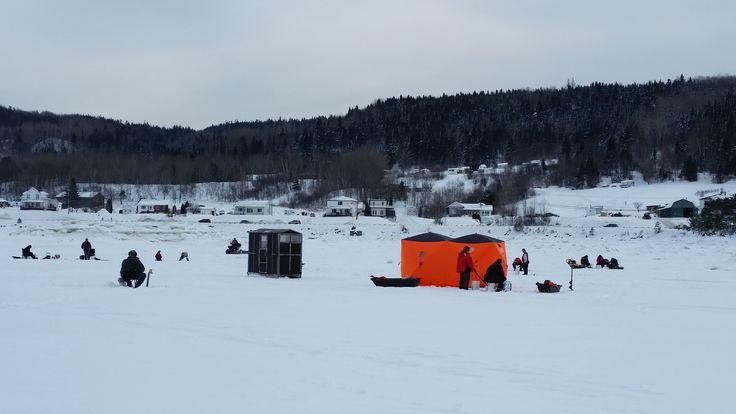 Pêcheurs sur la glace