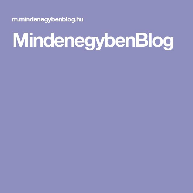 MindenegybenBlog
