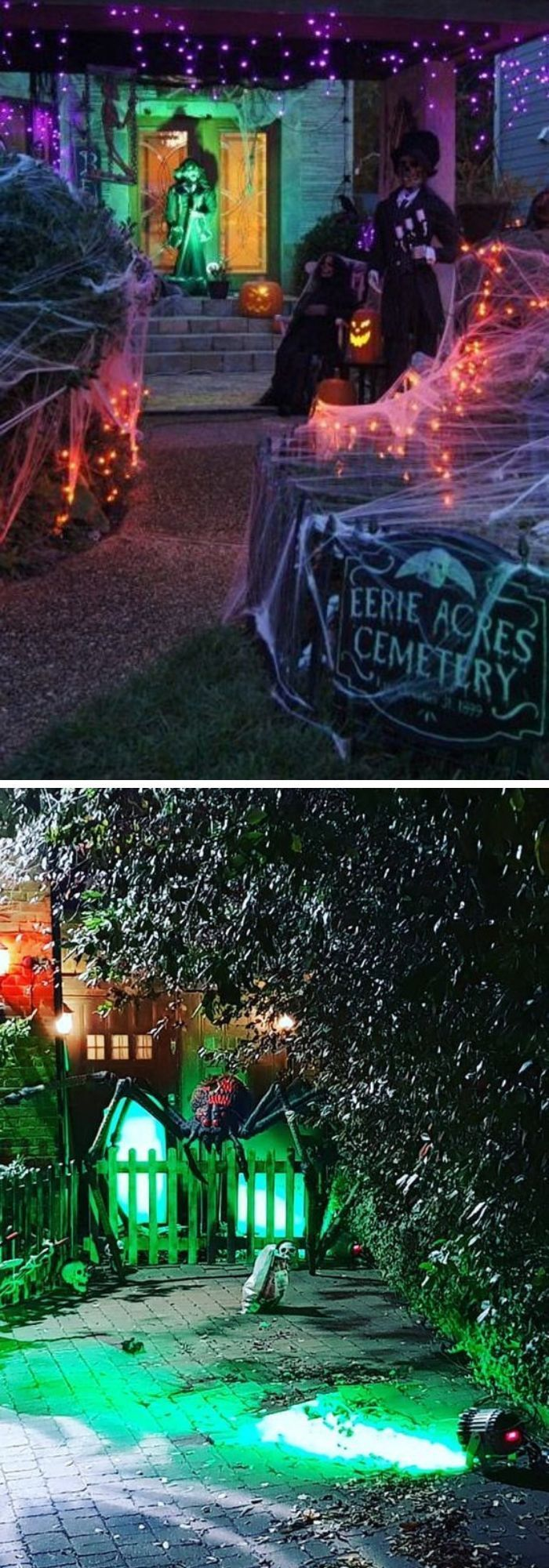 Halloween is a super thrilling night of the year and will be upon us before you know it. 25+ Spooky Lighting Ideas For Halloween Night 2021   Halloween diy outdoor, Halloween outdoor ...