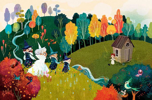 The Wonderful WIzard of Oz by Lorena Alvarez Gómez, via Behance