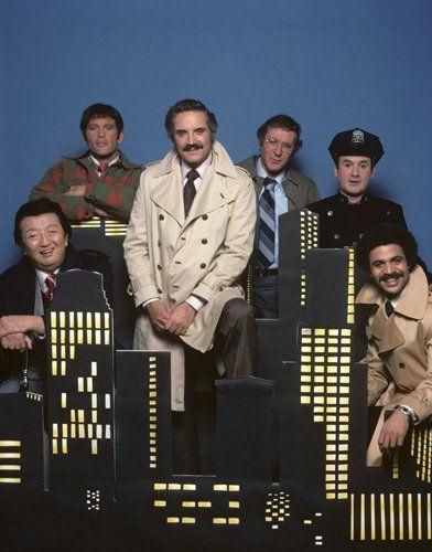 Ron Carey, Max Gail, Ron Glass, Steve Landesberg and Hal Linden in Barney Miller