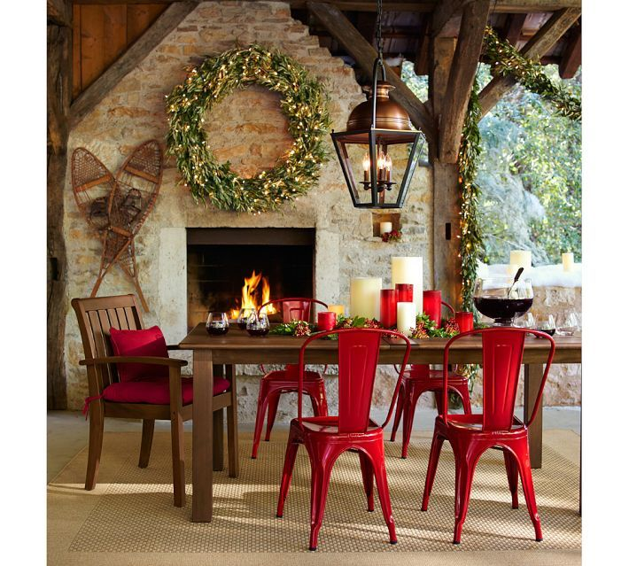 Tolix™ Cafe Chair for dining.  Not in red though.