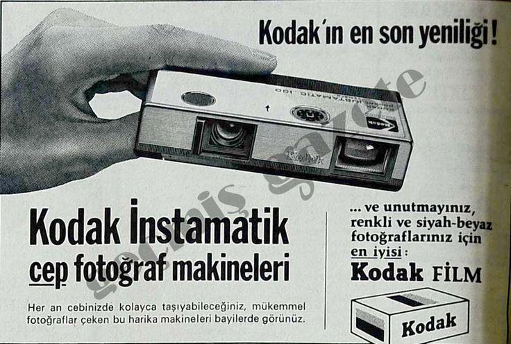 1974 Kodak İnstamatik cep fotoğraf makineleri
