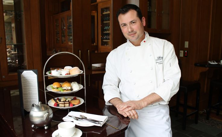 Sweet stuff The Fairmont Hotel's head pastry chef, Laurent Bernard, creates a range of rich snacks daily for the hotel's popular afternoon tea.
