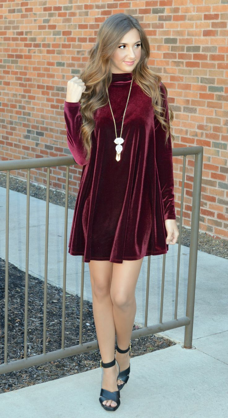 Scarlet O'Hara Velvet Shift Dress
