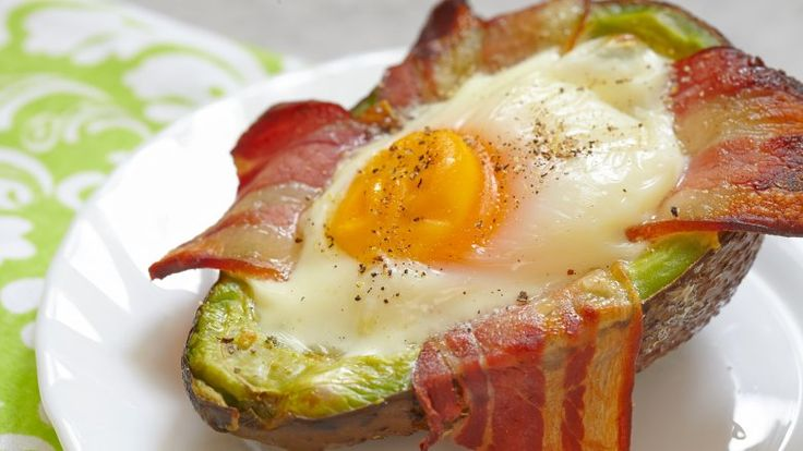 Avocados, eggs and bacon easy camping meal