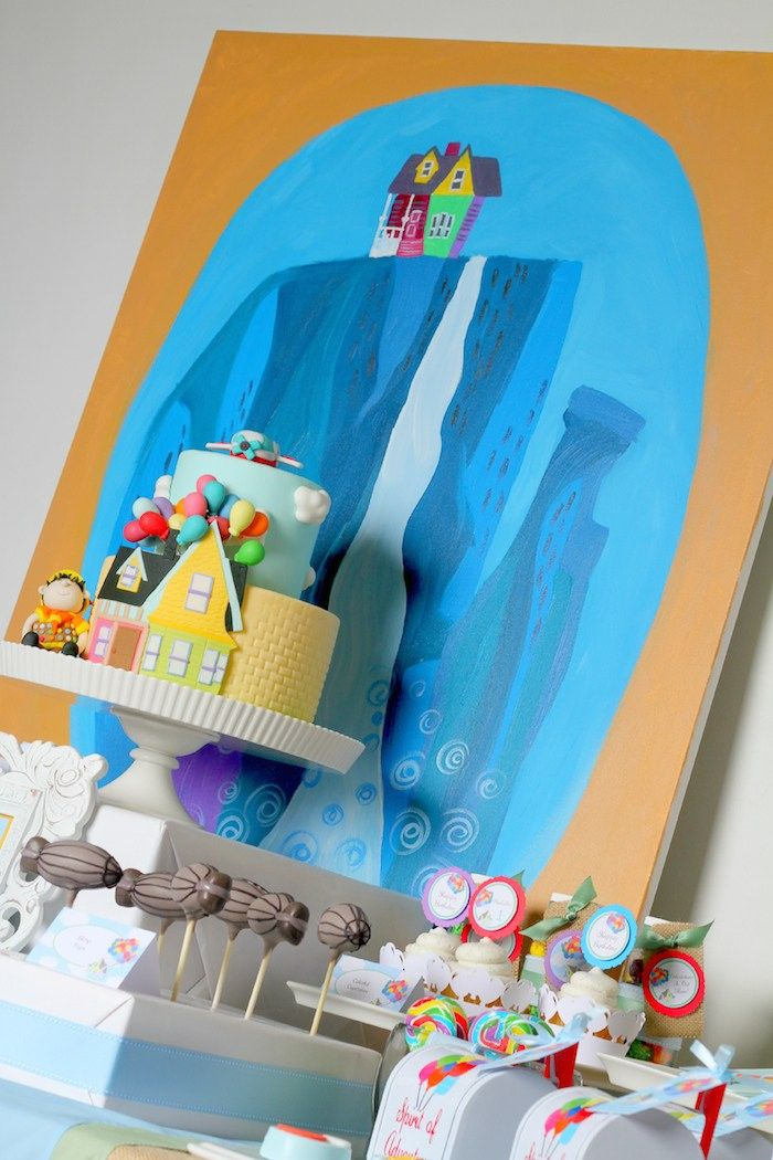 Disney's Up themed birthday party via Kara's Party Ideas KarasPartyIdeas.com Printables, cakes, invitation, cupcakes, desserts, and MORE! #disneysup #genderneutralparty #karaspartyideas (14)