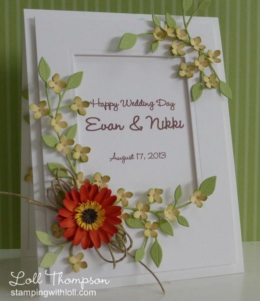 Special Wedding Card by Loll Thompson - Cards and Paper Crafts at Splitcoaststampers